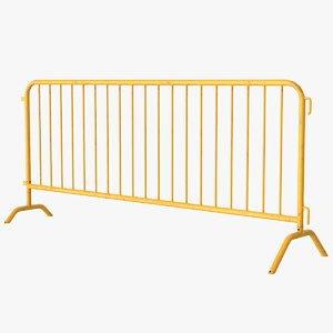 crowd control barrier pbr 3D