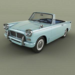 1962 triumph herald 948 3D model