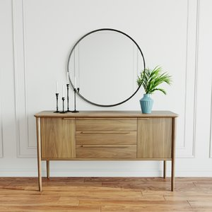 3D sideboard walnut model