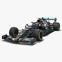 Mercedes F1 W11 Formula 1 Season 2020 New Black Paint