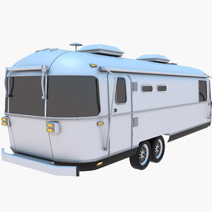 3D airstream trailer caravan
