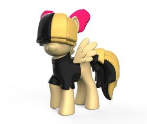 songbird little pony 3D