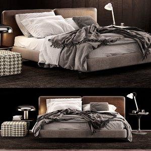 minotti tatlin bed lamp 3D model