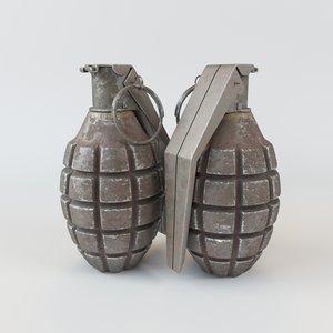 fragmentation grenade 3D model