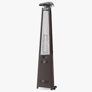 pyramid carillon patio heater 3D model