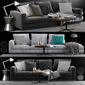 3D minotti andersen line sofa model
