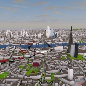 3D london city