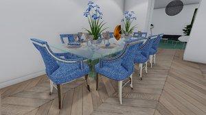 modern dinning table 3D model