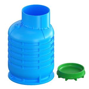 3D caisson wells