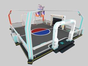 3D vr virtual arena