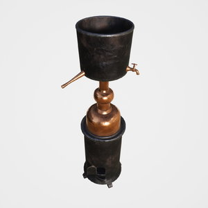 3D alchemical distiller model