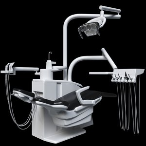 3D dental dentist chair