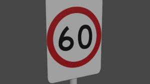 3D australia 60km h speed limit