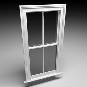 3D sash window