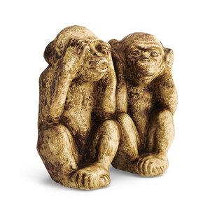 3D wise monkeys statue model