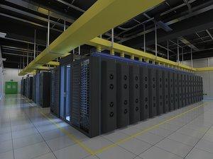 computer server room 1 3D model