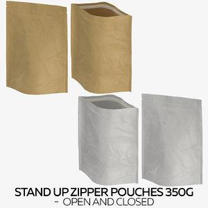3D stand zipper pouches 350g