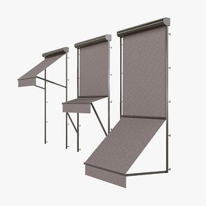 3D markisolette blinds model