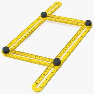 3D adjustable sided folding measuring
