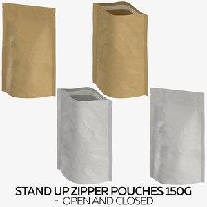 stand zipper pouches 150g model