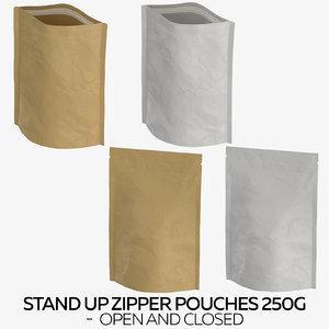 stand zipper pouches 250g 3D model