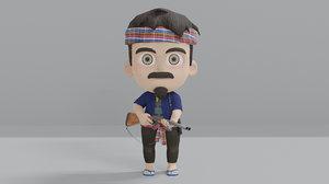 huntsman character 3D model