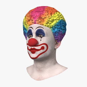 3D clown head