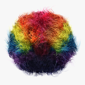 clown wig fur model