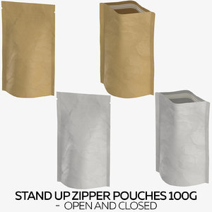 stand zipper pouches 100g model