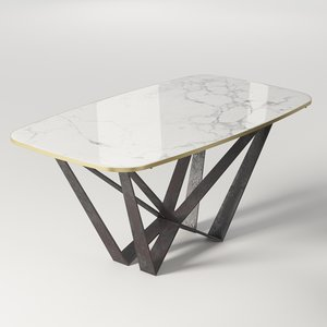 dining table marble model