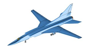 3D tupolev tu-22m aircraft solid