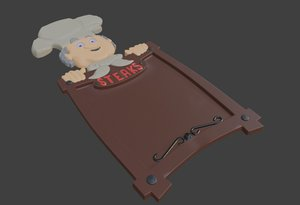 chef menu 3D model