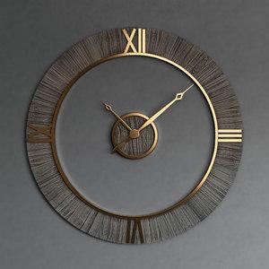 wall clock set 34 3D model