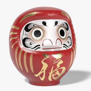 3D daruma japanese doll