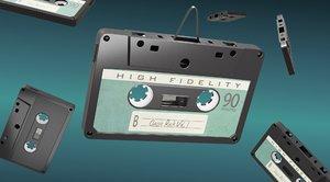 3D oldschool cassette tape