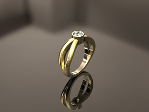 3D engagement ring model
