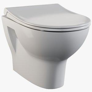 3D realistic toilet 1