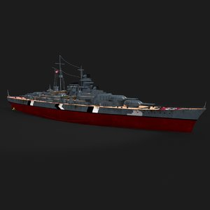 bismarck battleship model