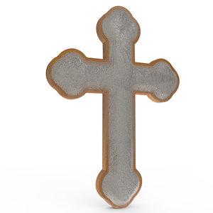 crucifix symbol 3D model