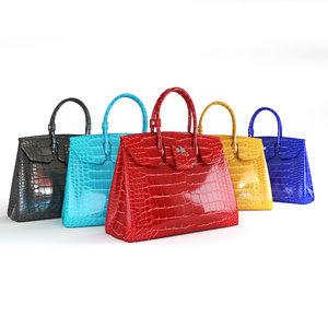 3D handbags leather crocodile signature