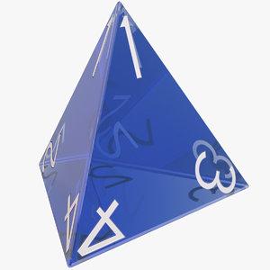 3D dice d4 model