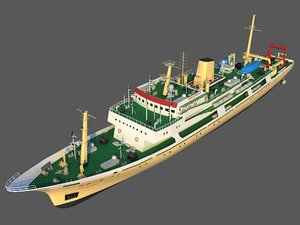 3D scientific research ship 2