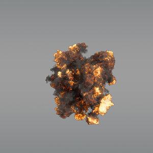 aerial explosion vdb 3D model