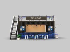 cafe container 3D model