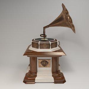 record phonograph gramophone 3D
