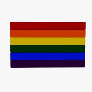 gay pride flag 3D model