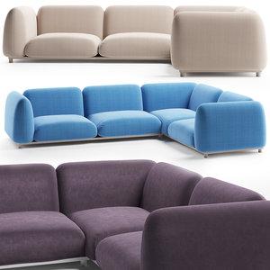 paola lenti mellow sofa model