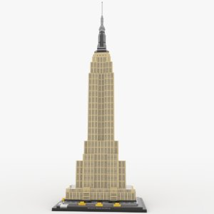 lego empire state building 3D model