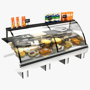 3D cheese display stand