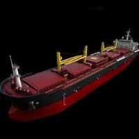Bulk carrier  190m Low-poly